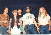 Rio w/Travelin' Shoes, Blue Note, Boulder, CO, c. 1980  Rio, T-5 Valladares (b, Skatterbrains), Larry (dms), Dave Gunders (gtr, Skatterbrains) Chuck Hughes (gtr, Chucky & the Cyclones, Hillbilly Hellcats)