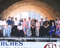 Arches Piano Stage, Cincy Blues Fest c. 1998,